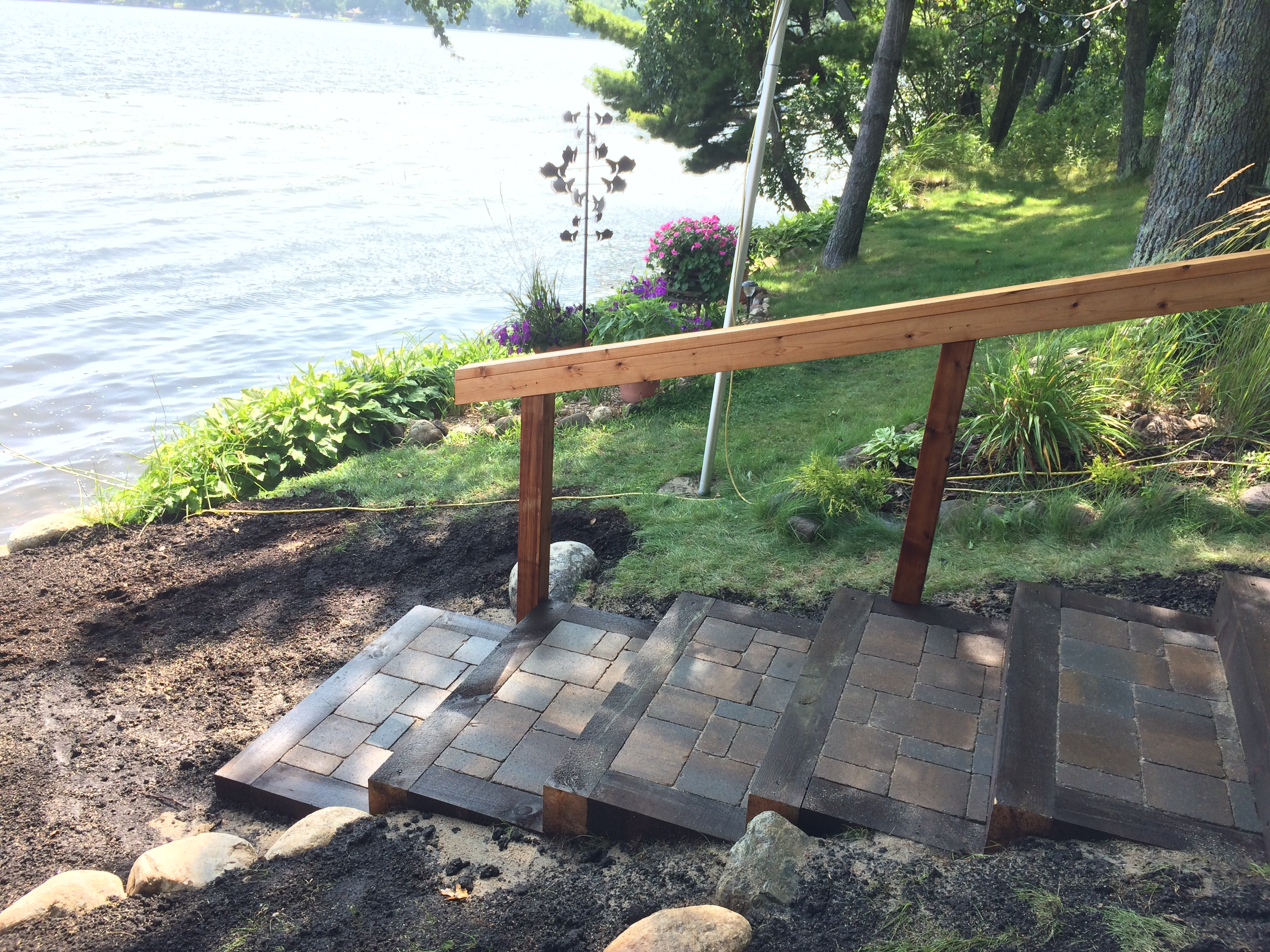 custom paver stairs