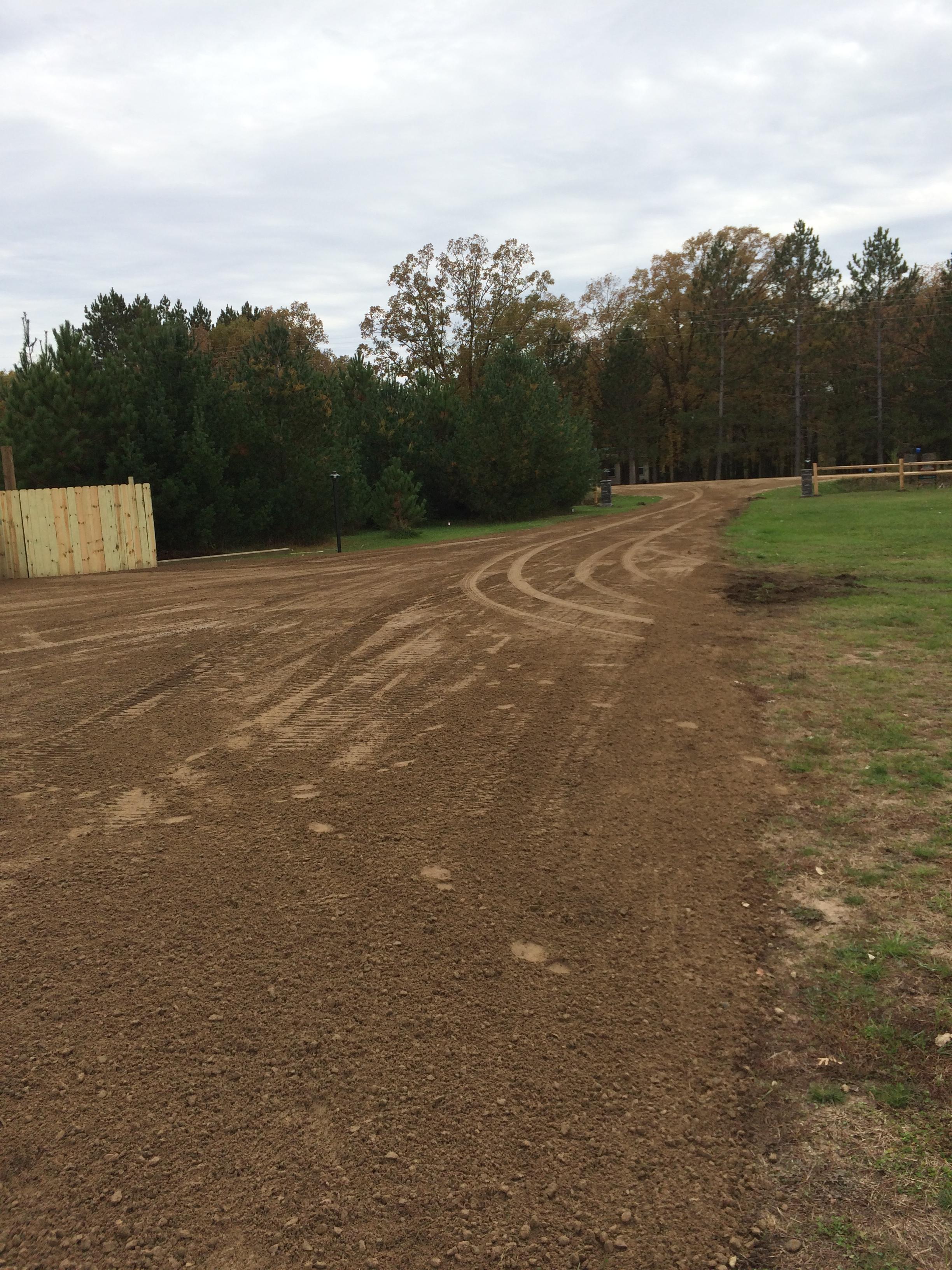 graded gravel driveway