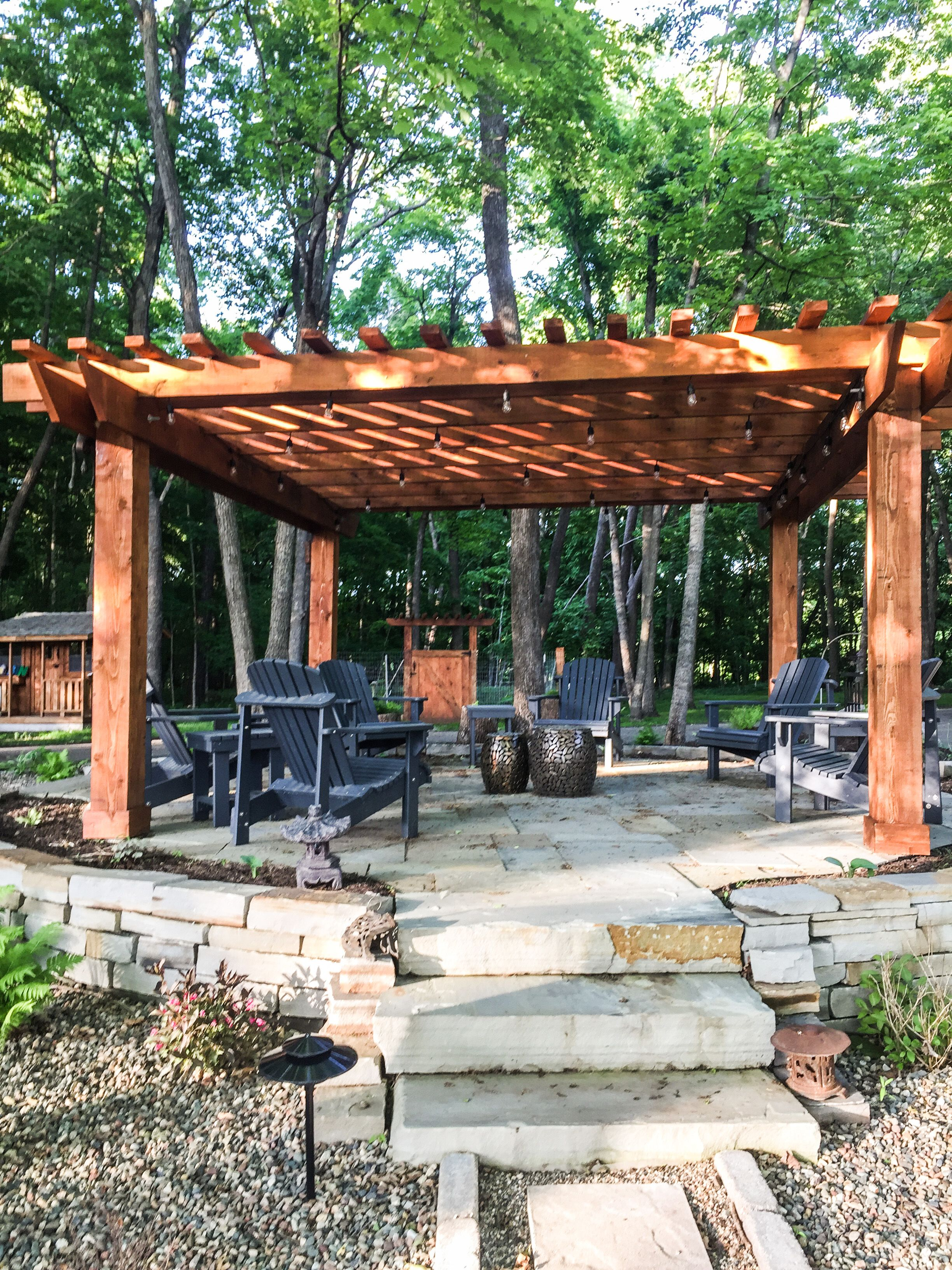 outdoor living with pergola and patio